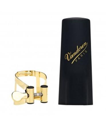 VANDOREN M/O SOPRANO SAX GOLD LIGATURE & PLASTIC CAP