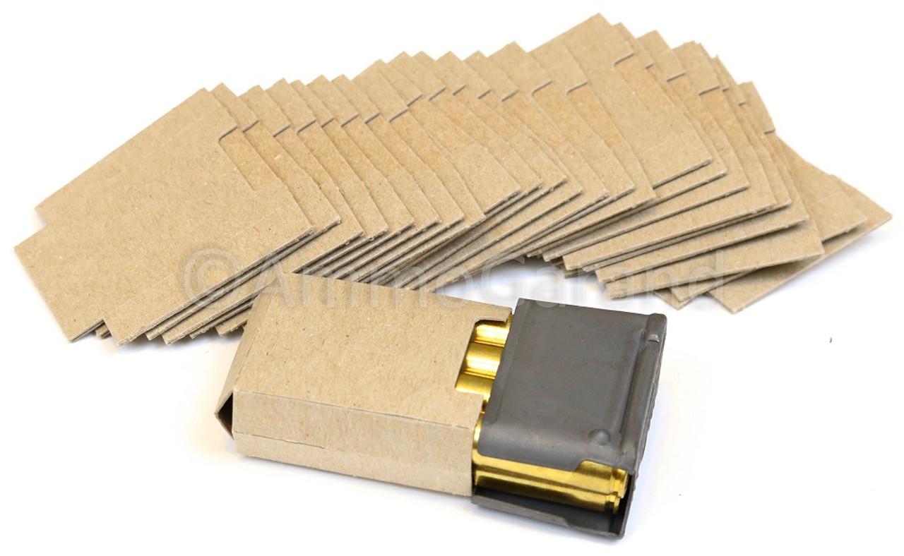 100ea M1 Garand USGI Cardboard Bandoleer Inserts / Silencers for 8 Round Clips NOS
