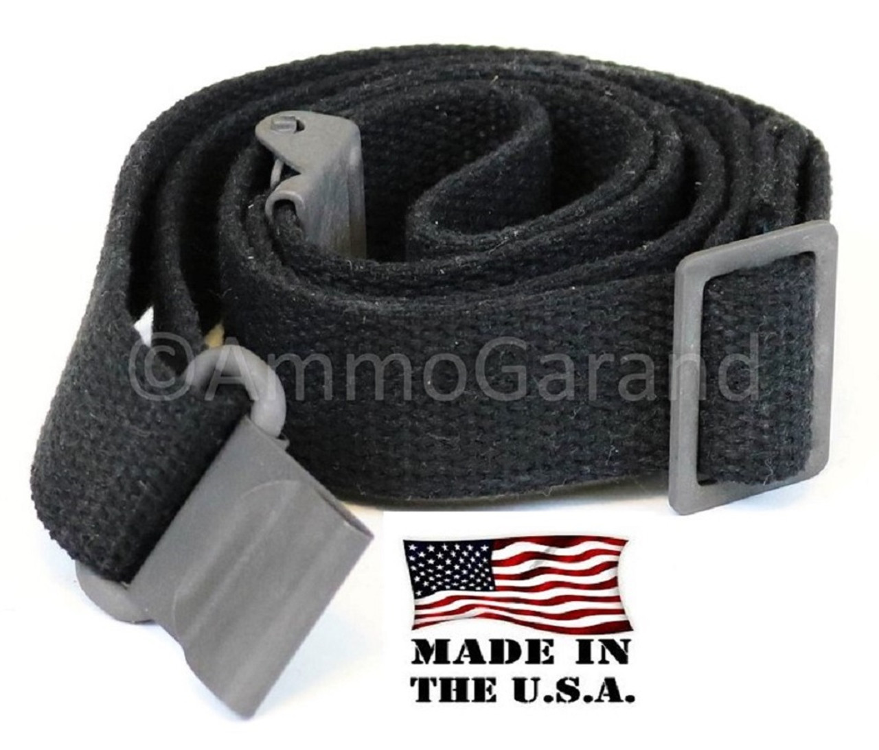 AmmoGarand Black Cotton Web Rifle Sling