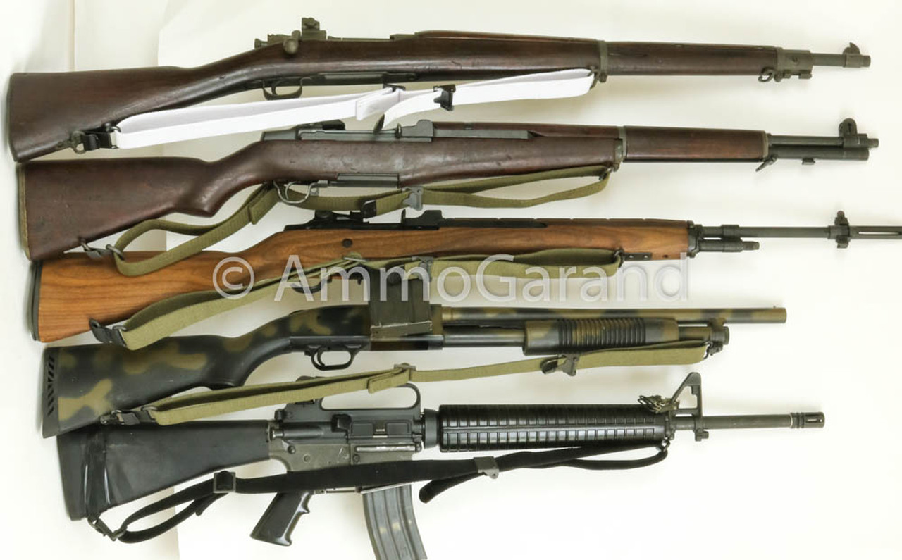 """AmmoGarand Web Slings fit M1 Garand, M1A, M14, M16, AR15 and most Commercial Shotguns and Rifles with 1-1/4"""" Swivels"""