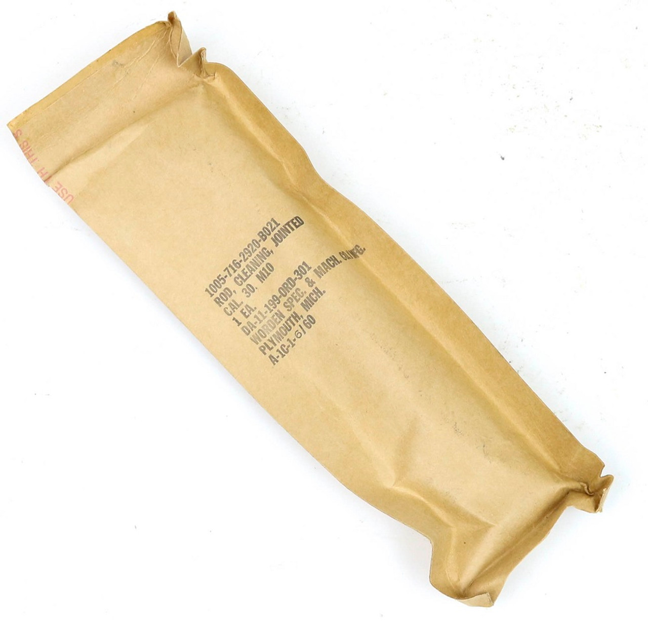 M1 Garand M10 Cleaning Rod, Complete SEALED in packing by Worden 1960 <br>UNISSUED New Old Stock (NOS)