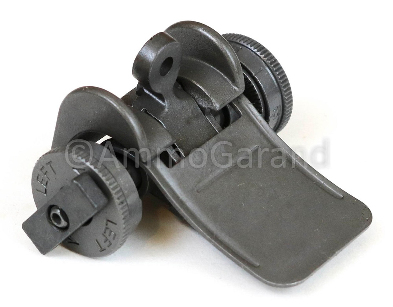 M1 Garand  Rear Sight Assembly WWII Lock Bar Complete Type III <br>Winchester WRA <br>1944 - 1945 use<br> - NEW - Grey