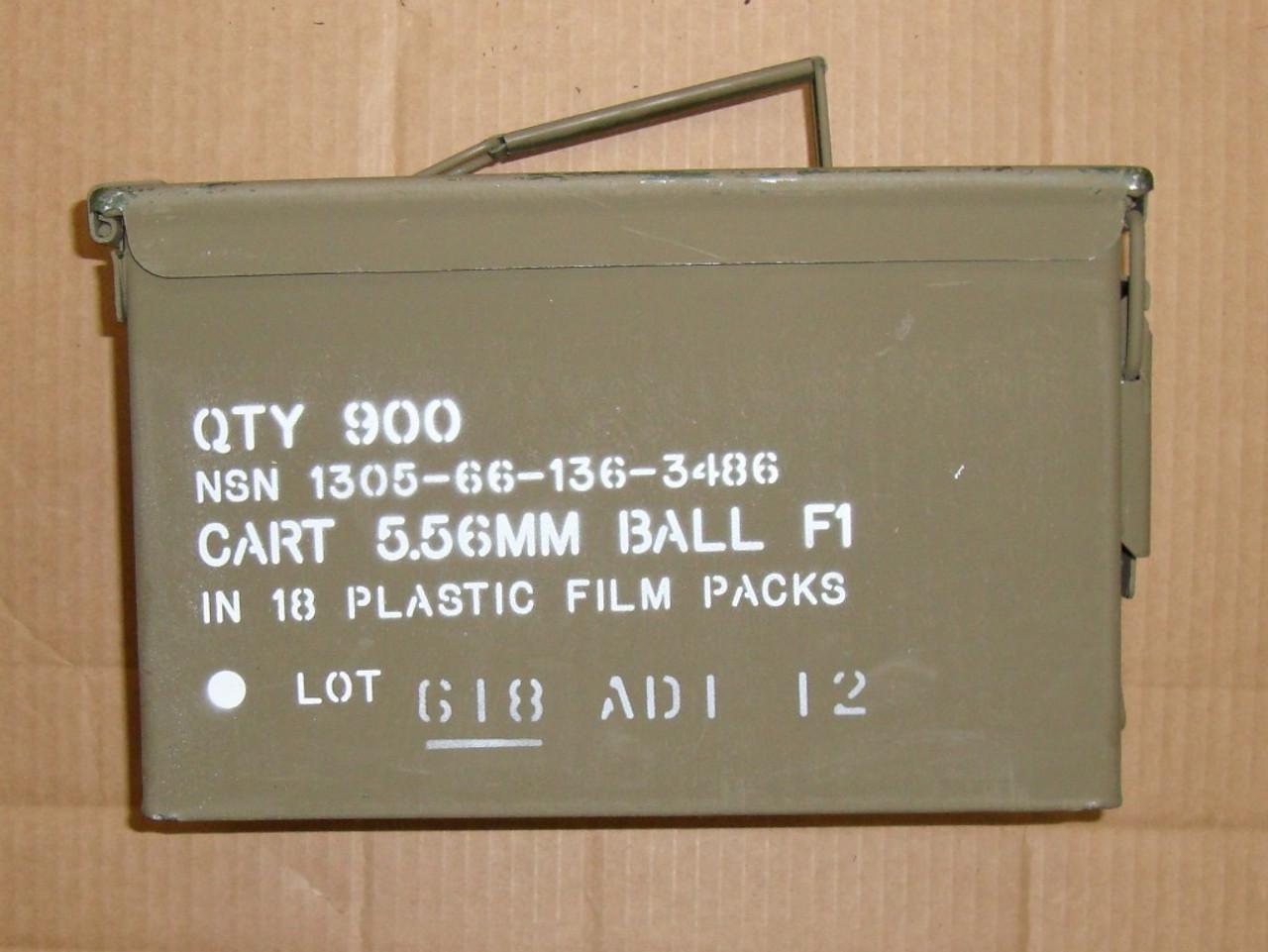 M855 .223 / 5.56mm SS109 62gr Penetrator<br>ADI 2012<br> 900rd Can <br>NON-Corrosive / Boxer Primed Reloadable