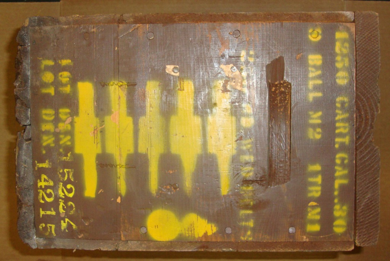 Wooden Ammunition Crate WWII for Belted 30-06 - EMPTY