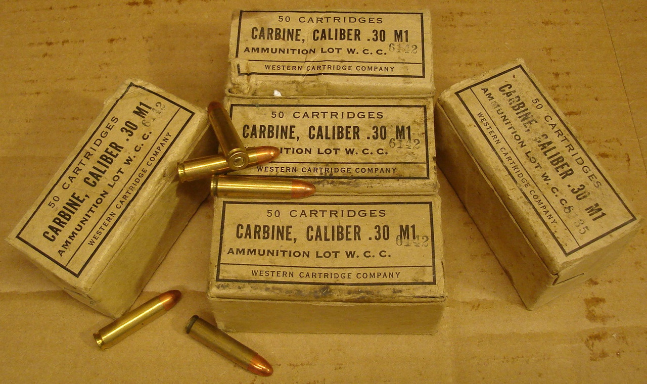 WWII 30 M1 Carbine Ammo Winchester WCC