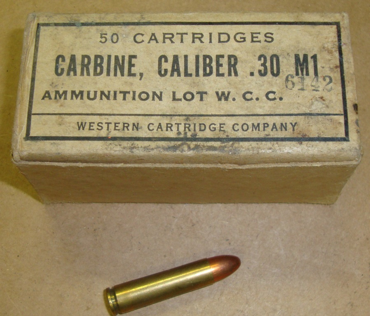 WWII 30 M1 Carbine 50rd Box Winchester WCC 1943