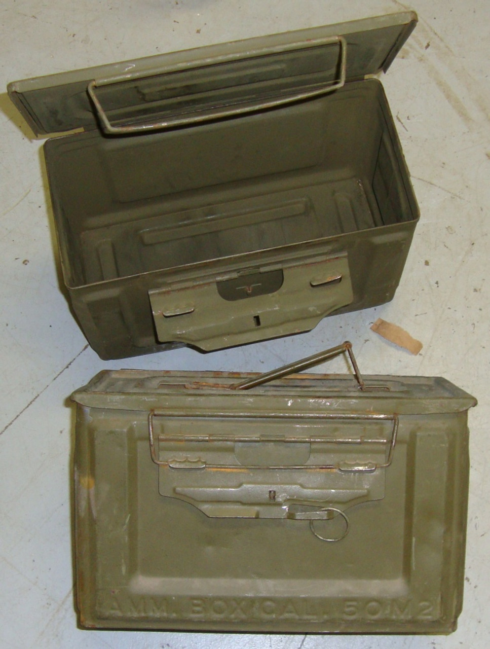 WWII .50 Cal M2 Ammo Cans USGI