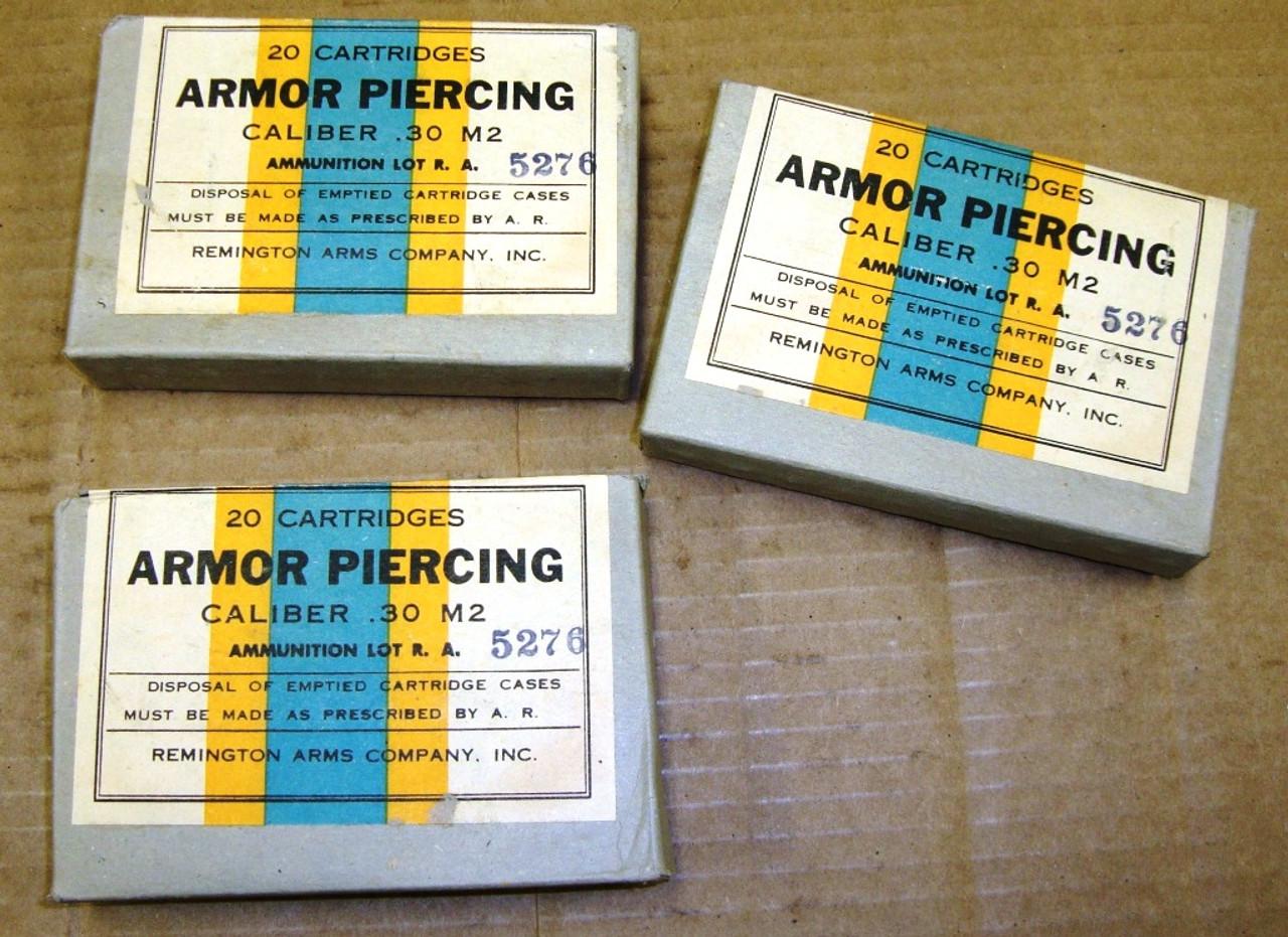 30-06 Armor Piercing 20rd Box Remington Arms 1943 Sealed