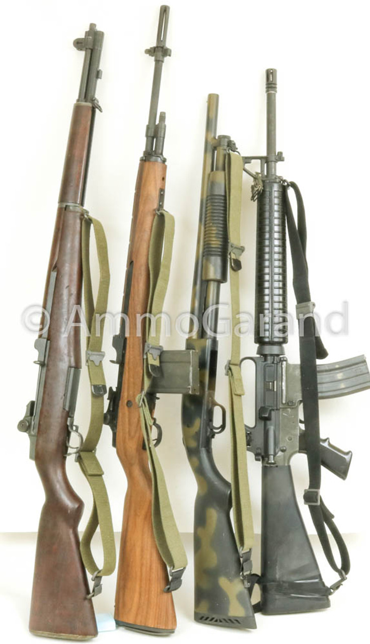 AmmoGarand Web Slings fit most all GI Rifles, M1 Garand, 1903, M16, M14