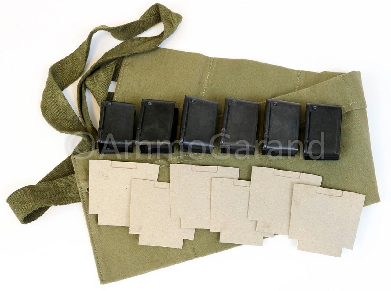 M1 Garand Repack Set w/ 8rd Clips Cardboard Inserts and Six Pocket Bandoleer