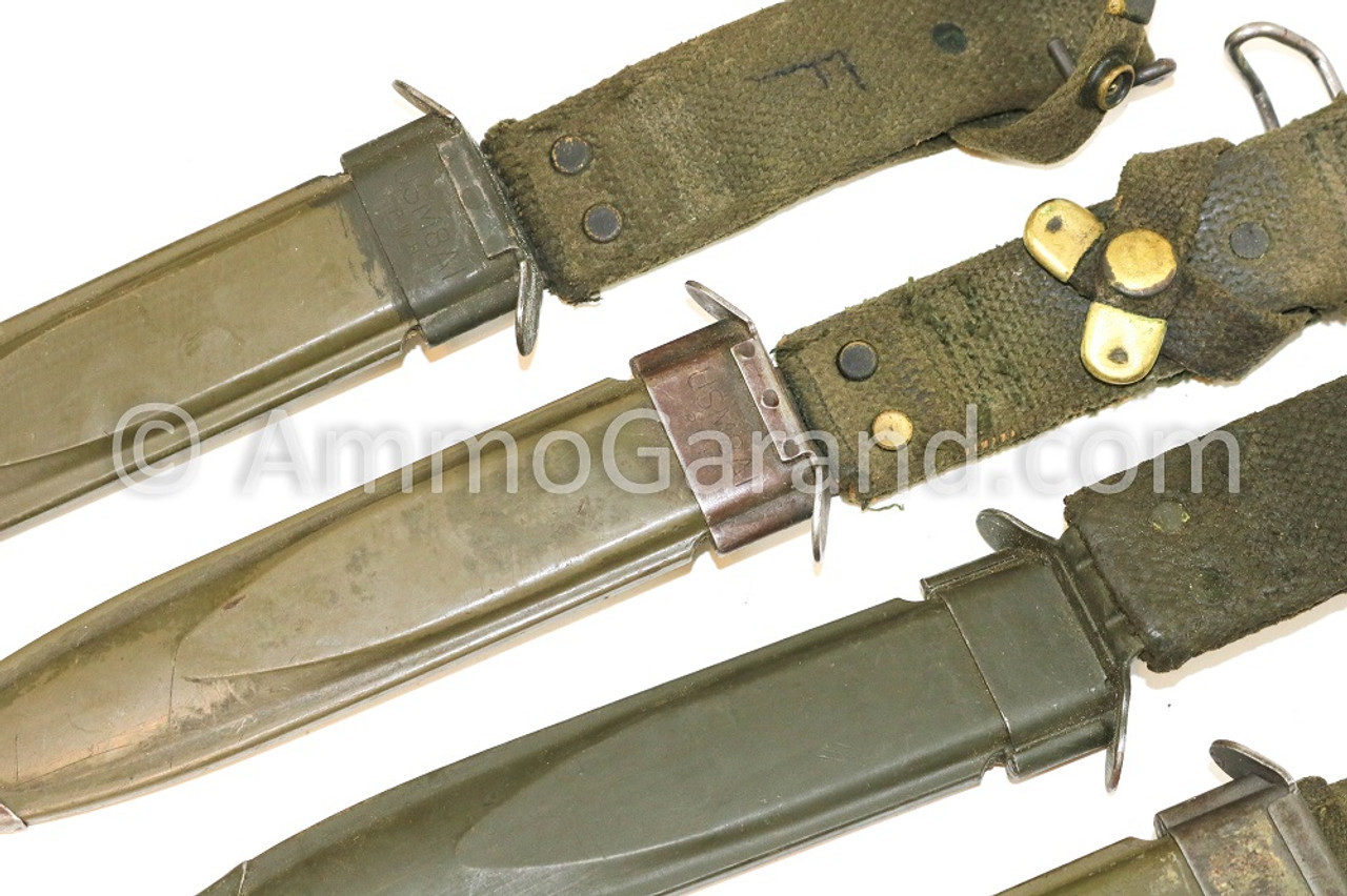 M8A1 USGI M5A1 M1 Garand Bayonet Scabbard also fit M3 Trench Knifes M1 Carbine M5 M14 and M16 Bayonets