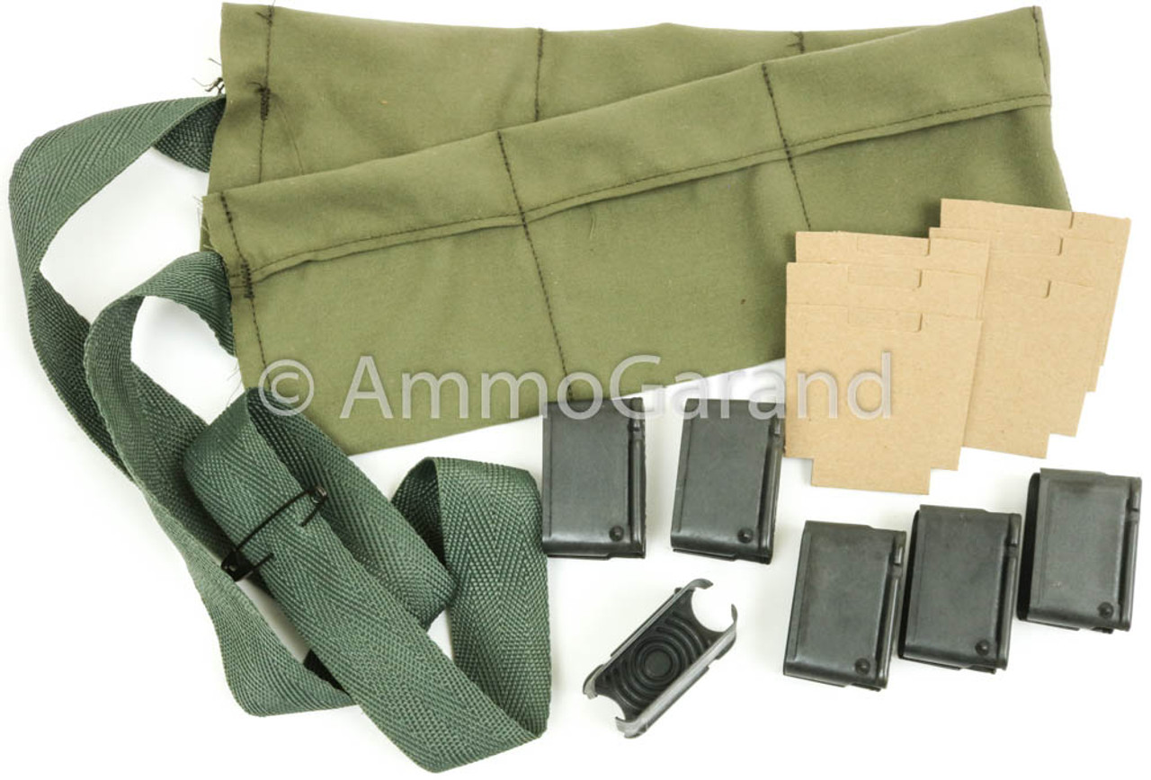 USGI Bandoleer Repack Set with M1 Garand 8rd Clips and Cardboards Post WWII