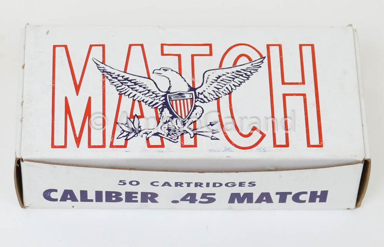 .45 ACP Match USGI 230gr FMJ Ball 50rd Box 1980 WCC