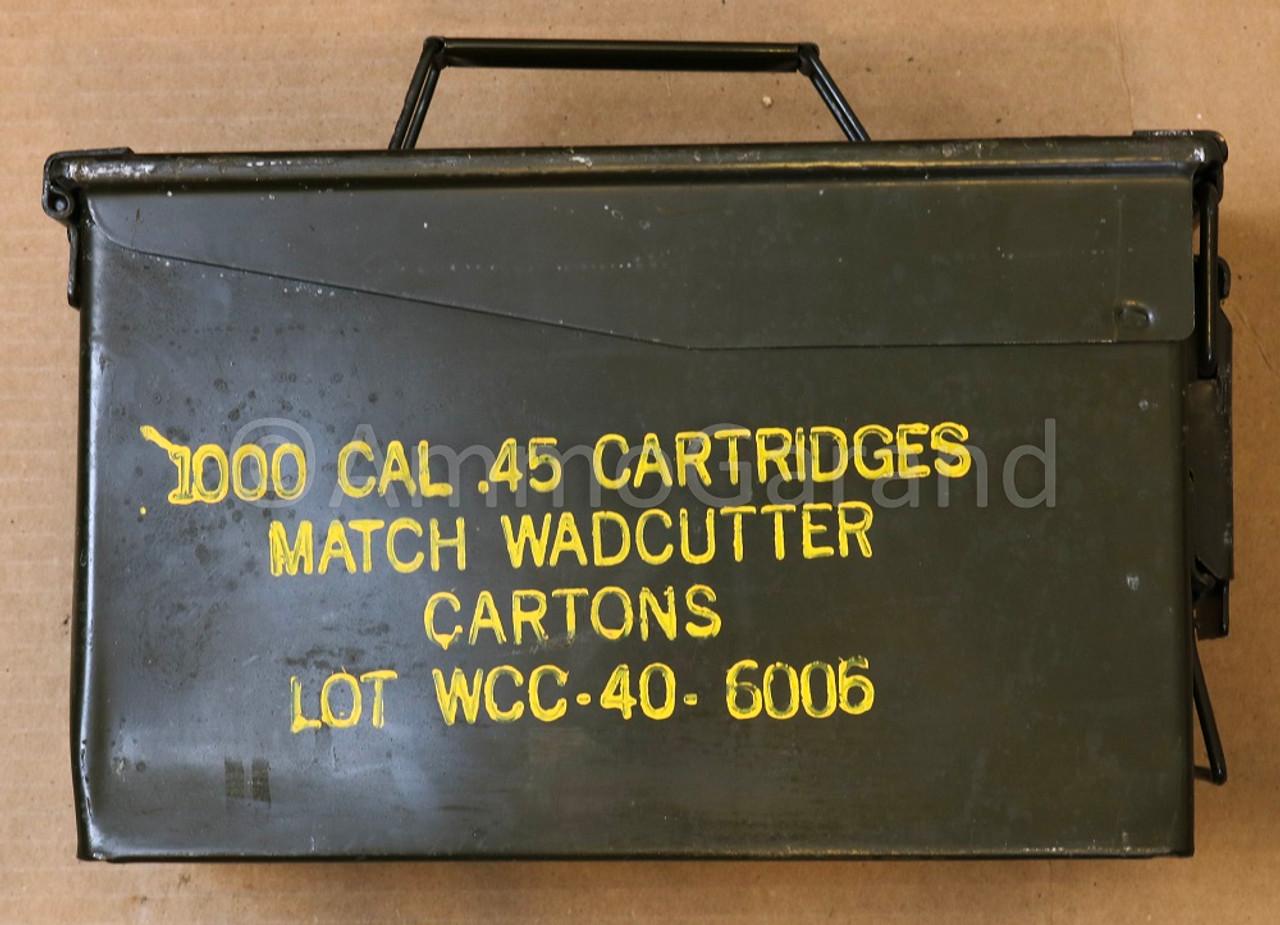 .45 ACP Match Wadcutter WCC Winchester USGI Surplus Lot 40-6006 50rd Box