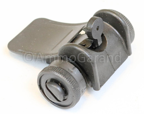 M1 Garand Rear Sight Assembly T105 (Yards)<br> - Also for M1A M14<br>Late 1945 on use<br>- NEW - Grey
