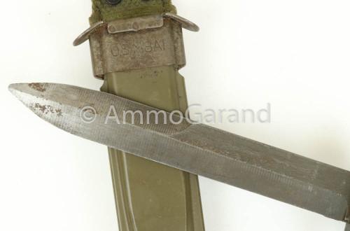 M5A1 M1 Garand Bayonet w/ M8A1 Scabbard USGI MILPAR 1950&#39;s <br>Used
