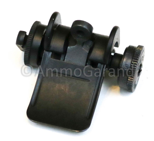 M1 Garand Rear Sight Assembly WWII Lock Bar Complete Type II Winchester WRA 1942 - 1944 use