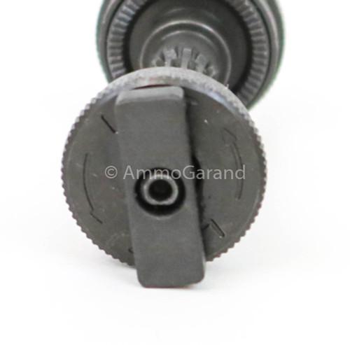 M1 Garand Rear Sight Pinion Assembly WWII Lock Bar Type III <br>Springfield SA <br>1944 - 1945 use<br> - NEW - Grey