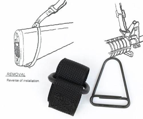 """USGI Web Sling Adapter Set for M16 AR15 """"Silent"""" Slings"""