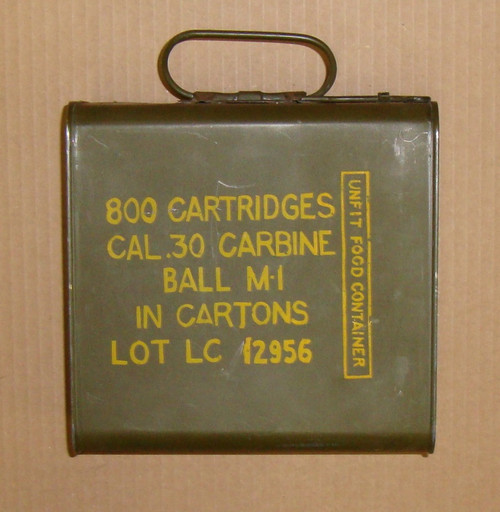 .30 M1 Carbine Ball Ammo Lake City 1944<br>800rd Spam Can of 50rd Boxes<br>USGI Surplus <br>**COLLECTOR ITEM**