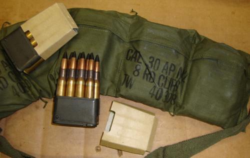 30-06 Armor Piercing AP M2 48rd Bandoleer Twin Cities USGI in M1 Garand Clips 1953<br>NON-Corrosive / Reloadable