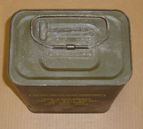 30-06 M2 150gr FMJ Ball Winchester  Western Cartridge Co<br>USGI WCC 1952<br>520rd Spam Can<br>NON-Corrosive / Boxer Primed Reloadable <br>**For Collectors**