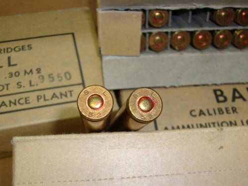 30-06 M2 150gr FMJ Ball Saint Louis 1952 USGI 20rd Boxes<br>NON-Corrosive / Boxer Primed Reloadable