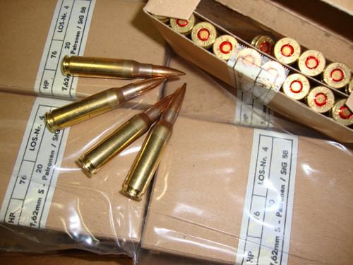 .308 WIN / 7.62x51mm 146gr FMJ NATO Ball Surplus<br>20rd Boxes<br>.308 Garand Safe