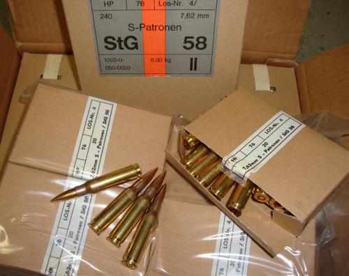 .308 WIN / 7.62x51mm 146gr FMJ NATO Ball Surplus<br>960rd Case<br>.308 Garand Safe
