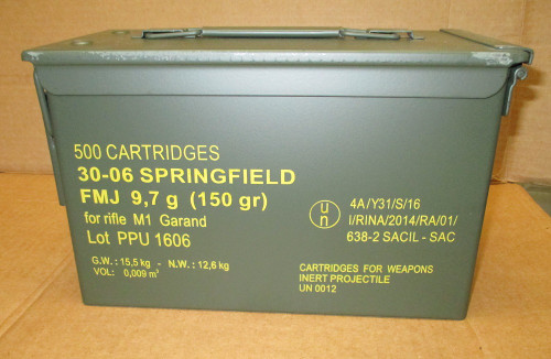 30-06 M2 150gr FMJ Ball Prvi Partizan PPU<br> 500rd in Boxs/Can<br>**NON-MAGNETIC**