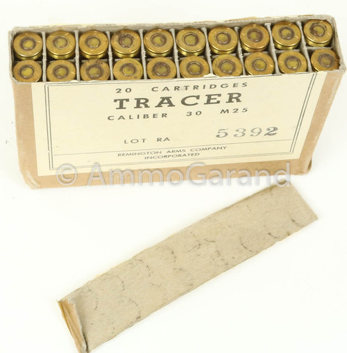 30-06 M25 Tracer Remington Arms 1957 Orange Tip<br>20rd Box