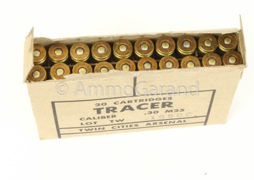30-06 M25 Tracer <br>Twin Cities 1950's Orange Tip<br>20rd Box