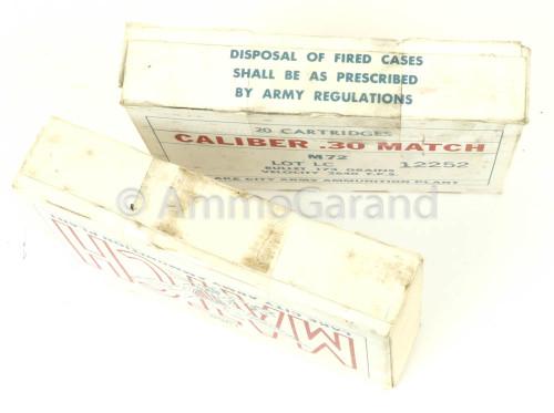30-06 M72 .30 National Match Lake City 1968 Lot 12252<br>20rd Box