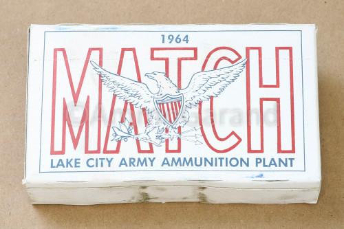 7.62mm .308 Match XM118 Lake City 1964 Lot 12020 20rd Box