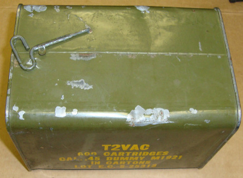 .45 ACP DUMMY Ammo 600rd Spam Can of 50rd Boxes Evansville-Chrysler 1944 WWII