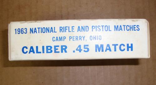 .45 ACP National Match USGI Ball 50rd Box 1963