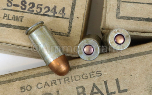 .45 ACP M1911 Ball Evansville 50rd Box WWII 1943<br> Lot S-S25244