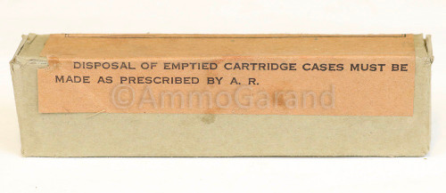 .45 ACP M1911 Ball Ammo Remington Arms <br>20rd Box WWII<br>Lot RA 6242 (1942)