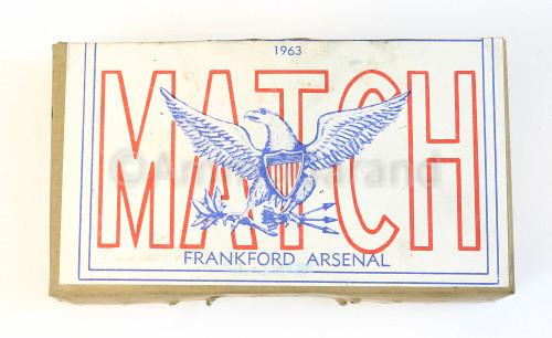 7.62 MM Match XM118<br>Frankford Arsenal 1963 <br>Lot FA-11 20rd Box