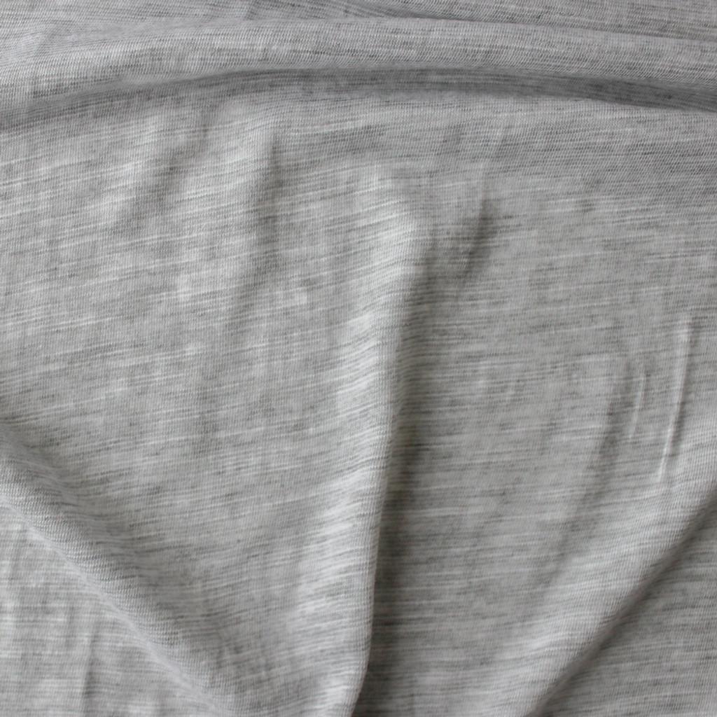 Slubby Organic Cotton   Bamboo Knit - Light Heathered Grey ... 927562815