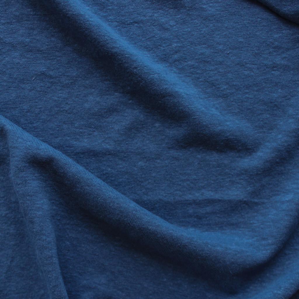 d7141080583 Hemp & Organic Cotton Jersey - Prussian Blue | Blackbird Fabrics
