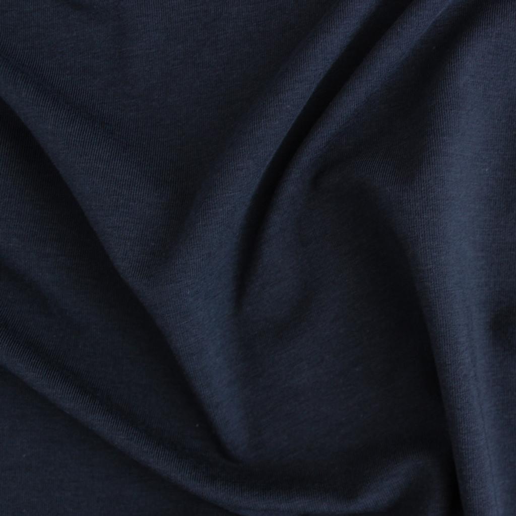 Tencel Organic Cotton Jersey Navy Blackbird Fabrics