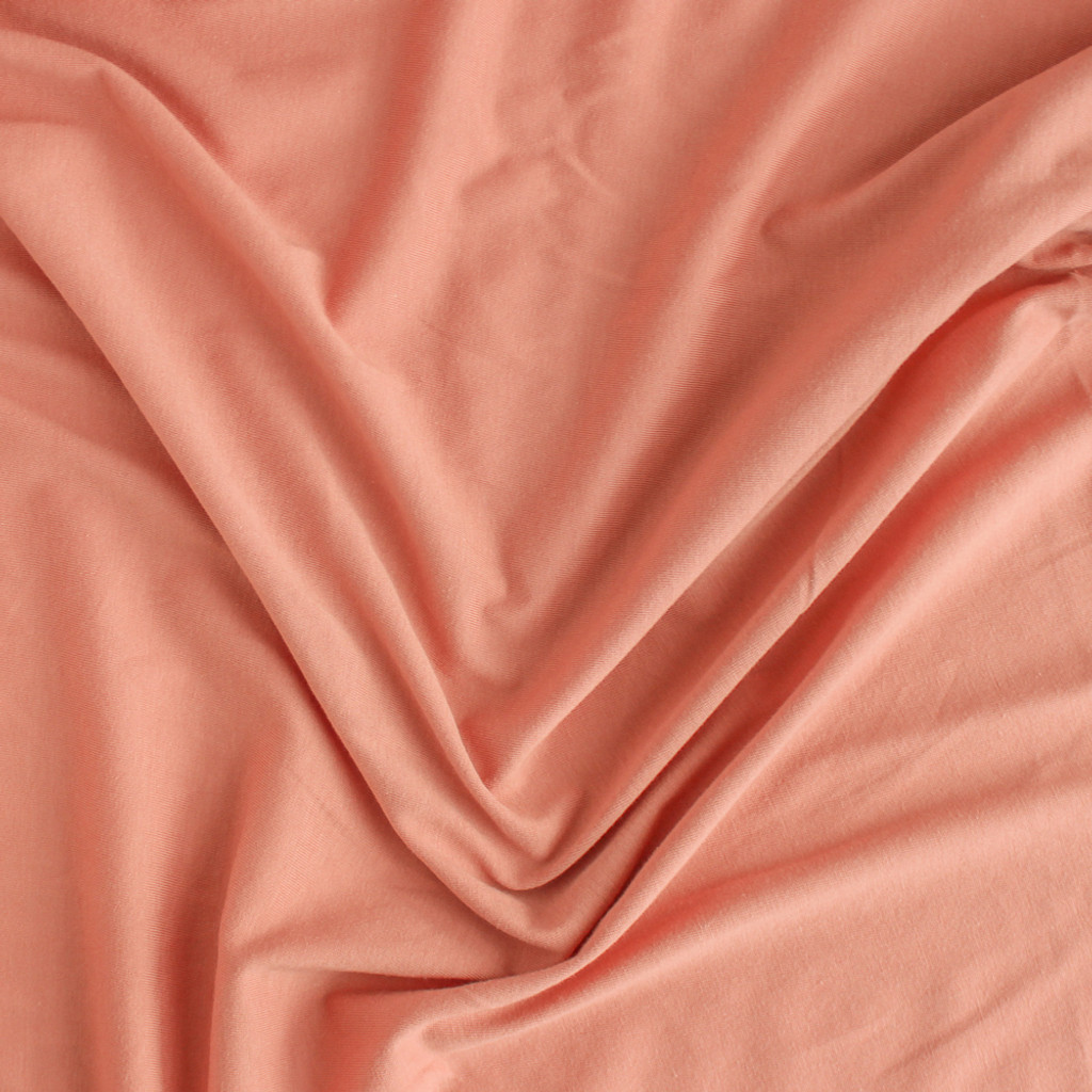 a16aa65bb01 100% Organic Cotton Jersey Knit - Salmon | Blackbird Fabrics
