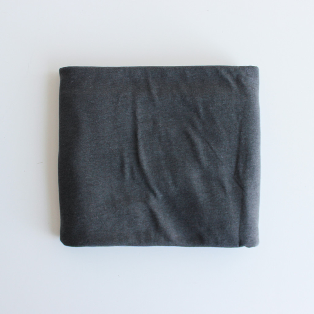 eedae39b7fc Remnant - 1 meter - Tencel Cotton Jersey Knit - Warm Charcoal ...