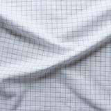 Windowpane Check Japanese Cotton Shirting - White/Black   Blackbird Fabrics
