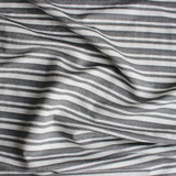 Striped Viscose Blend Crepe with Backing - Charcoal/White | Blackbird Fabrics