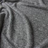 Linen & Poly Knit - Dark Heathered Grey | Blackbird Fabrics