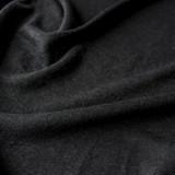 Linen & Poly Knit - Black | Blackbird Fabrics