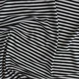 Mini Striped Bamboo Jersey Knit - Black/Ivory   Blackbird Fabrics