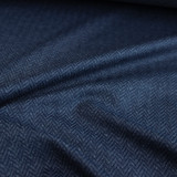 Peached Herringbone Knit - Navy | Blackbird Fabrics